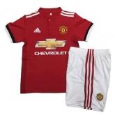 17-18 Manchester United Home Children's Jersey Kit(Shirt+Short)