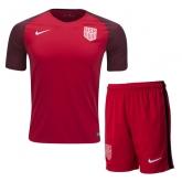 2017 USA Away Red Soccer Jersey Kit(Shirt+Short)