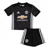 17-18 Manchester United Away Black Children's Jersey Kit(Shirt+Short)