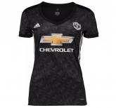 17-18 Manchester United Away Black Women's Jersey Shirt