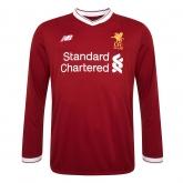 17-18 Liverpool Home Long Sleeve Jersey Shirt