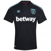 17-18 West Ham United Away Black Soccer Jersey Shirt