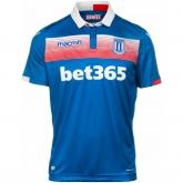 17-18 Stoke City Away Blue Soccer Jersey Shirt