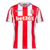 17-18 Stoke City Home Soccer Jersey Shirt