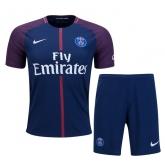 17-18 PSG Home Soccer Jersey Kit(Shirt+Short)