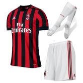 17-18 AC Milan Home Soccer Jersey Whole Kit(Shirt+Short+Socks)