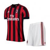 17-18 AC Milan Home Soccer Jersey Kit(Shirt+Short)