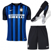 17-18 Inter Milan Home Soccer Jersey Whole Kit(Shirt+Short+Socks)