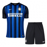 17-18 Inter Milan Home Soccer Jersey Kit(Shirt+Short)