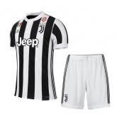 17-18 Juventus Home Soccer Jersey Kit(Shirt+Short)