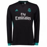17-18 Real Madrid Away Black Long Sleeve Jersey Shirt