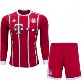 17-18 Bayern Munich Home Long Sleeve Jersey Kit(Shirt+Short)