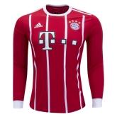 17-18 Bayern Munich Home Long Sleeve Jersey Shirt
