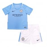 17-18 Manchester City Home Children's Jersey Kit(Shirt+Short)