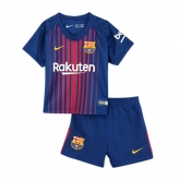 17-18 Barcelona Home Children's Jersey Kit(Shirt+Short)