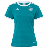 2017 Germany Away Blue Women's Jersey Shirt