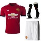 17-18 Manchester United Home Jersey Whole Kit(Shirt+Short+Socks)