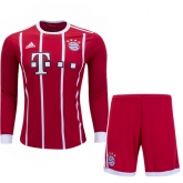 17-18 Bayern Munich Home Long Sleeve Jersey Kit(Shirt+Short)