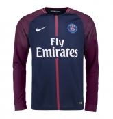 17-18 PSG Home Long Sleeve Soccer Jersey Shirt