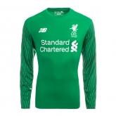 17-18 Liverpool Goalkeeper Green Long Green Jersey Shirt