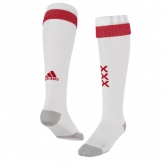 17-18 Ajax Home White Soccer Jersey Socks