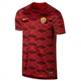 17-18 Roma Red Pre-MatchTraining Shirt