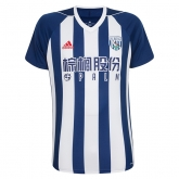 17-18 West Bromwich Albion Home Soccer Jersey Shirt