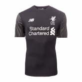 17-18 Liverpool Goalkeeper Black Soccer Jersey Shirt