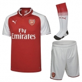 17-18 Arsenal Home Soccer Jersey Whole Kit(Shirt+Short+Socks)