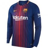 17-18 Barcelona Home Long Sleeve Jersey Shirt