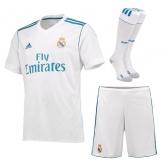 17-18 Real Madrid Home White Soccer Jersey Whole Kit(Shirt+Short+Socks)