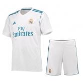 17-18 Real Madrid Home White Soccer Jersey Kit(Shirt+Short)