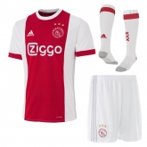 17-18 Ajax Red&White Home Soccer Jersey Whole Kit(Shirt+Short+Socks)