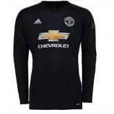 17-18 Manchester United Goalkeeper Black Long Sleeve Jersey Shirt