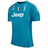 17-18 Juventus Goalkeeper Blue Soccer Jersey Shirt