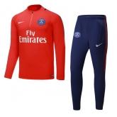 17-18 PSG N98 Red&Navy Training Kit(Zipper Sweat Top Shirt+Trouser)