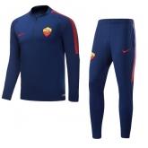 17-18 Roma Navy Training Kit(Zipper Sweat Top Shirt+Trouser)
