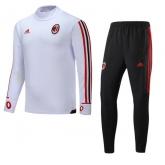 17-18 AC Milan White&Black Training Kit(Turtleneck Shirt+Trouser)