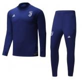 17-18 Juventus Navy Training Kit(Turtleneck Shirt+Trouser)