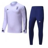 17-18 Juventus White&Navy Training Kit(Turtleneck Shirt+Trouser)