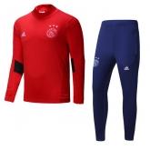 17-18 Ajax  Red&Navy Training Kit(Turtleneck Shirt+Trouser)