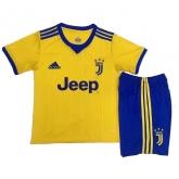 17-18 Juventus Away Yellow Children's Jersey Kit(Shirt+Short)