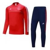 17-18 Ajax  Red&Navy Training Kit(Sweat Top Shirt+Trouser)