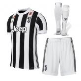 17-18 Juventus Home Soccer Jersey Whole Kit(Shirt+Short+Socks)