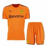 17-18 Borussia Dortmund Goalkeeper Orange Jersey Kit(Shirt+Short)