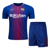 17-18 Barcelona Home Soccer Jersey Kit(Shirt+Short)