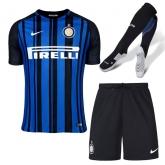 17-18 Inter Milan Home Soccer Jersey Whole Kit(Shirt+Short+Socks)