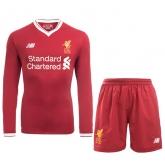 17-18 Liverpool Home Long Soccer Jersey Kit(Shirt+Short)