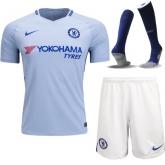 17-18 Chelsea Away White Soccer Jersey Whole Kit(Shirt+Short+Socks)