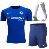 17-18 Chelsea Home Soccer Jersey Whole Kit(Shirt+Short+Socks)